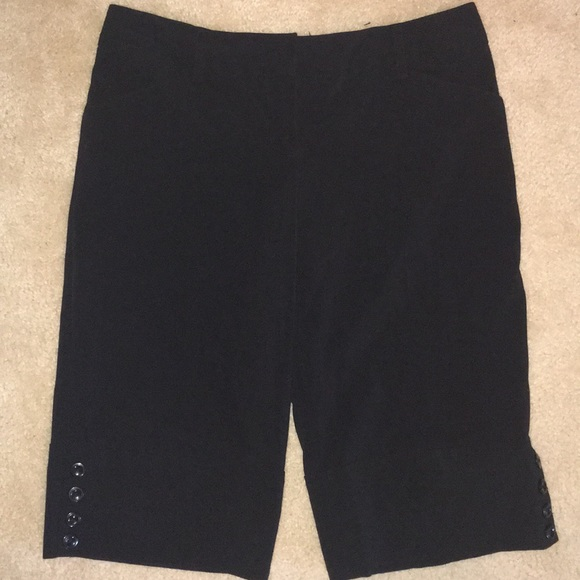 BCX Pants - BCX Black Bermuda Length Dress Shorts